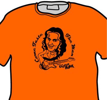 Tommy Bolin Deep Purple EverydayRock T Shirt Caricature