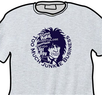 Johnny Thunders EverydayRock T Shirt Caricature