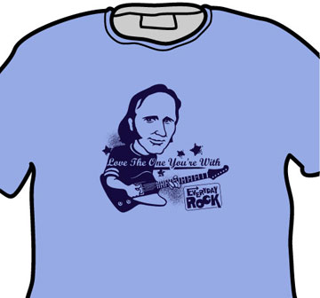 Stephen Stills EverydayRock T Shirt Caricature