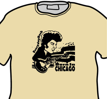 Michael Bloomfield EverydayRock T Shirt Caricature