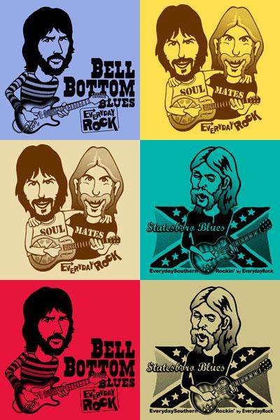 Eric Clapton Duane Allman Derek & The Dominos EverydayRock T Shirt