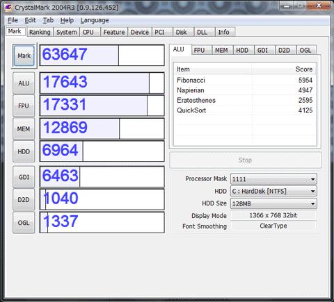 【EC19C-A52C】CrystalMark 2004R3 0.9.126.452