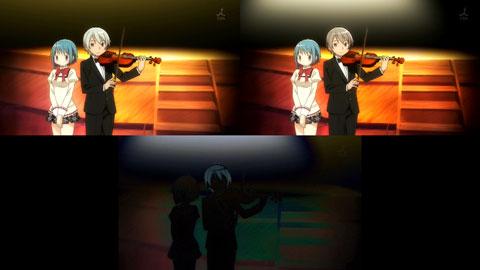 【魔法少女まどか☆マギカ】OP比較(左:第04話,右:第05話,下:差)