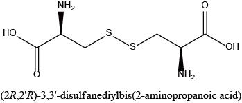 (2R,2'R)-3,3'-disulfanediylbis(2-aminopropanoic acid)