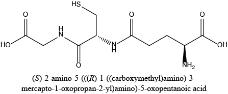 (S)-2-amino-5-(((R)-1-((carboxymethyl)amino)-3-mercapto-1-oxopropan-2-yl)amino)-5-oxopentanoic acid