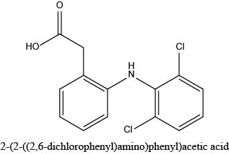 2-(2-((2,6-dichlorophenyl)amino)phenyl)acetic acid