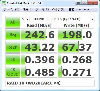 RAID 10 (WD20EARX ×4)