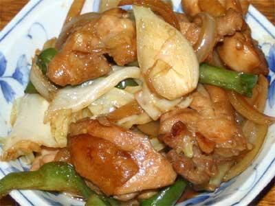 鶏とピーマンの炒め物