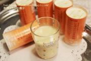 しみ込む豆乳飲料