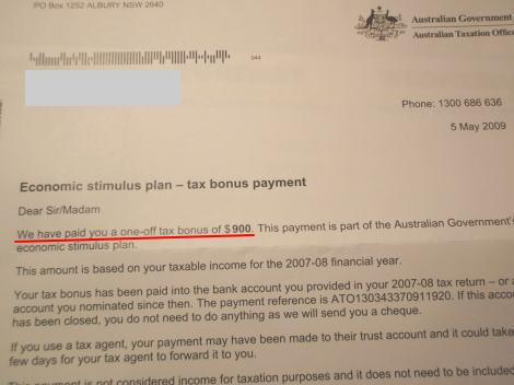 オーストラリア版定額給付金