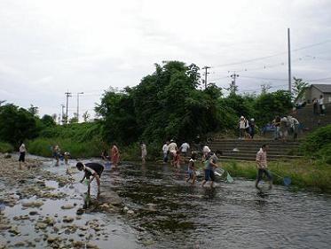 子供公民館「浅野川で遊ぶ・・・」
