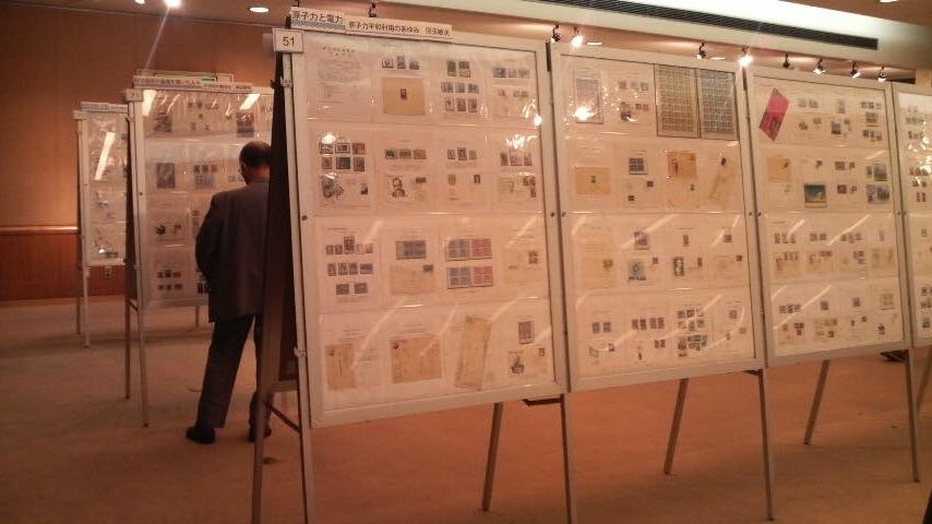 切手展示の模様